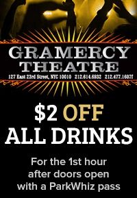 $2.00 off all drinks! For the 1st hour after the doors open with a ParkWhiz pass.